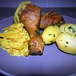 recette Pilons de poulet sauce à l'oignon curcuma et Ras el Hanout