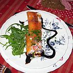 recette Cannellonis de saumon à la ricotta et aux crevettes grises