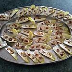 recette Barquettes d'endives fromage dattes noix