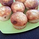 recette muffins banane coeur nutella et éclat de coco
