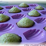 recette Mini Madeleines au Chocolat Blanc