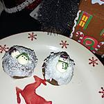 recette Cupcakes moelleux au chocolat enneigé et son bonhomme de neige