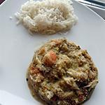 recette Cassolette bar et crevettes au Thermomix