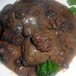 recette Pavé de biche sauce aux morilles
