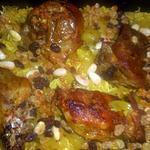 recette Epaule d agneau riz aux raisins et amandes