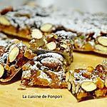 recette Panforte aux amandes, noisettes, raisins secs et agrumes confits