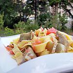 recette Tagliatelles aux artichauts violets, pamplemousse rose & farigoulette