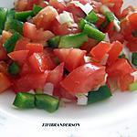 recette Salade de tomates et poivron vert (a la marocaine)