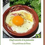 recette Corolle de pancetta et œuf cocotte