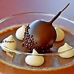 recette Mhalbi au chocolat et café garni d'un guinette à l'armagnac