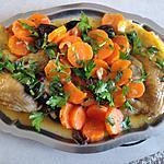recette Suprêmes de pintade aux carottes et aux pruneaux