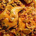 recette Coelho et cogumelos (lapin champignons et lardons)