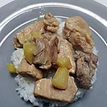 recette Sauté de porc à l'ananas et au curry