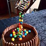 recette Gravity cake M&M 's - signe l' atelier de Roxane