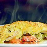 recette Gratin de pommes de terre, boudin blanc, tomates et haricots