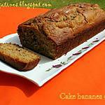 recette cake aux noix et bananes