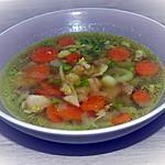 recette Bouillon de poulet aux légumes