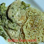 recette Hauts de cuisse de poulet et brocoli dans le poêlon