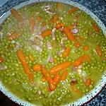 recette Petits pois et carottes cuisinés