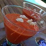 recette Crème veloutée de poivrons au chèvre