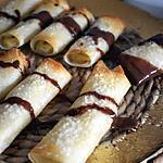 recette NEMS DE BANANE ET SA SAUCE CHOCOLAT