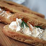 recette Éclair mousse de saumon fumé