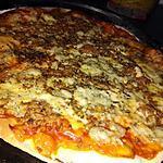 recette Pizza a la viande haché et au MONTCADI