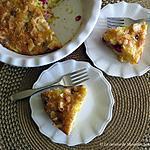 recette Tarte paresseuse aux clémentines et aux framboises +