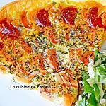 recette Tarte aux carottes, chorizo et mozza