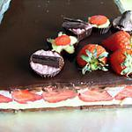 Entremets fraises-chocolat