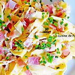 recette Tagliatelles au jambon cru, sauce mozza