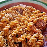 recette Pâtes à la tomate et au chorizo
