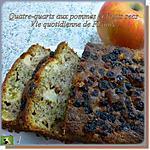 recette Quatre-quarts aux pommes et fruits secs