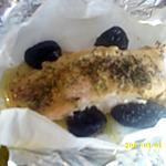 recette Papillote de saumon aux pruneaux et moutarde