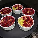 recette petites crème aux framboises