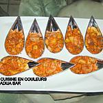 recette Cuillères apéritives aux crevettes