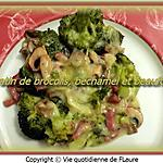recette Gratin de brocolis, béchamel et Beaufort