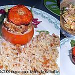 recette TOMATES FARCIES (farce au foies de volaille)