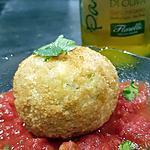 recette Arancini aux légumes et mozzarella ( pour finir mon risotto )