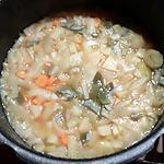 recette Petite soupe de légumes en morceaux