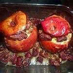 recette Pommes au four aux gésiers de canard