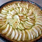 recette Tarte aux pommes et à la rhubarbe