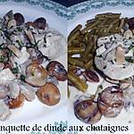 recette BLANQUETTE DE DINDE AUX CHATAIGNES