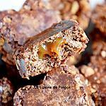 recette Petit coeur chocolat croustillant au coeur caramel