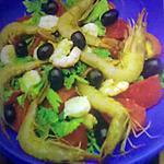 recette salade de céliri au crevettes