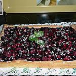 recette tarte aux fruits rouges et à la créme de noisette