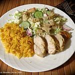 recette Poulet tendre sur salade craquante +