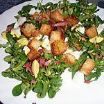 recette Salade Lyonnaise aux doucettes et pissenlits