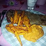 recette Côte de bœuf sauce aux morille purée et frite de patate douce