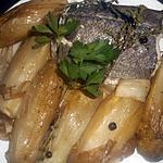 recette Dos de merlu aux endives braisées